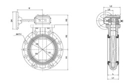 Small gear type butterfly valves diagram